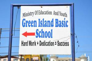 New Basic School Sign